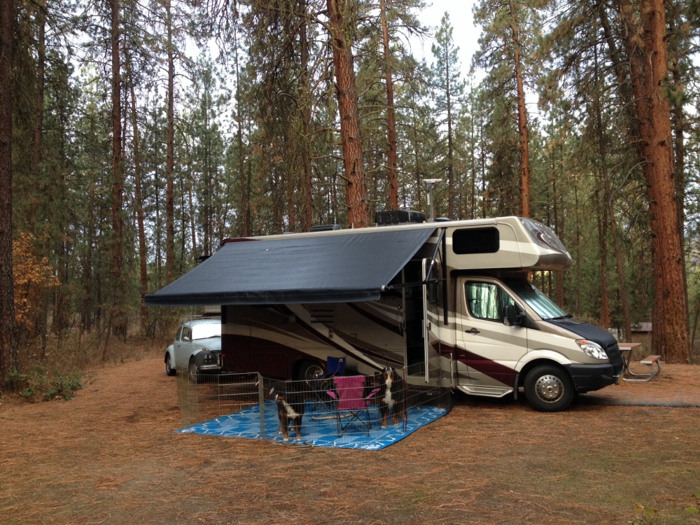 Camping at Fort Spokane