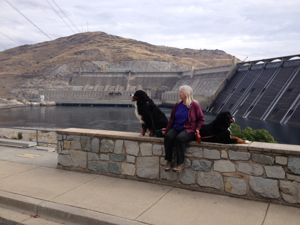 Thee Grand Coulee Dam entertains the pups
