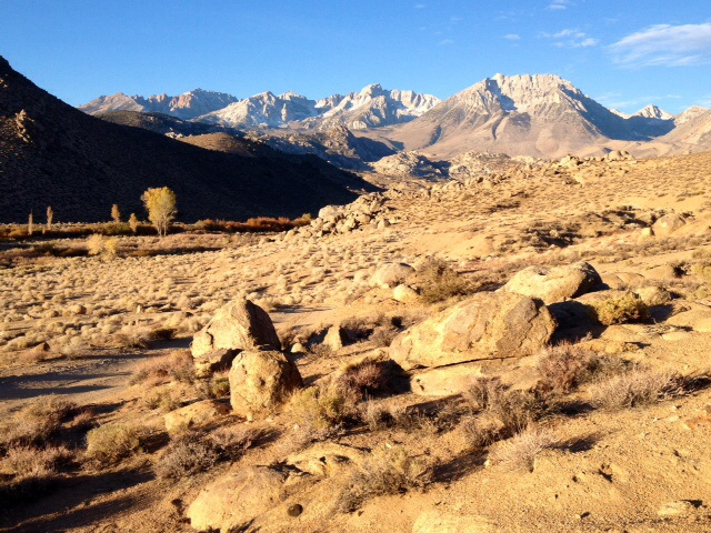 The  Buttermilks in the Foreground The High Sierra in the  Background