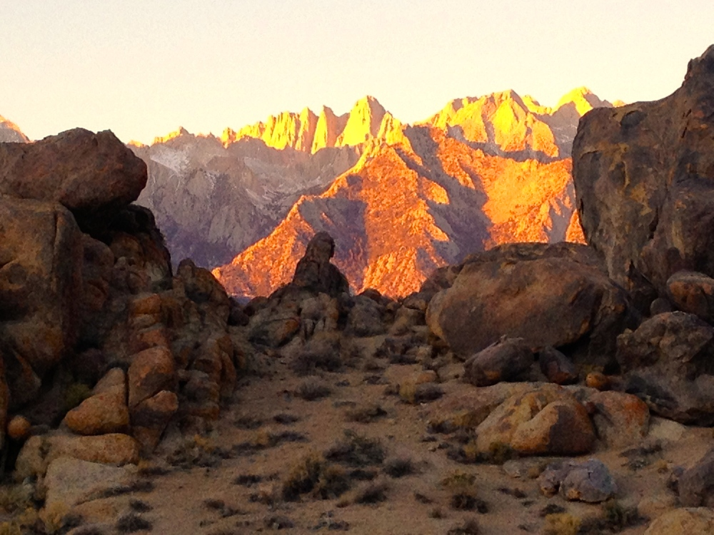 The Alabama Hills Frame Mt. Whitney