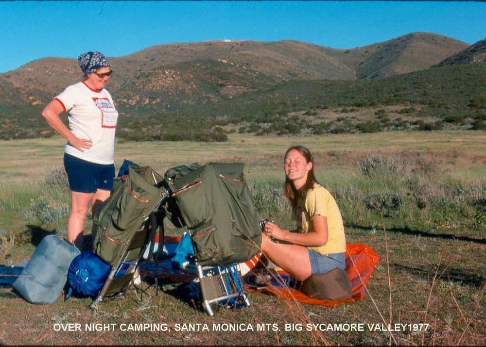 CAMPING SANTA MONICA MTS. 1977