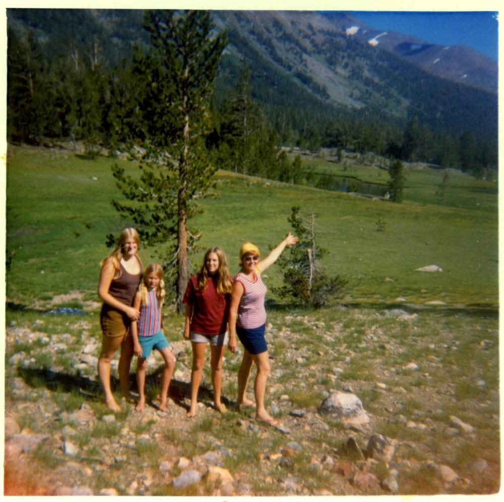 Hiking in To Toulimie Meadows 1970