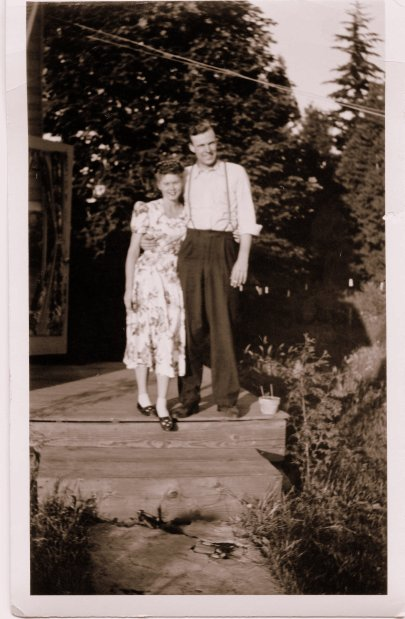 Lois and Sam in Oregon Late 1940's