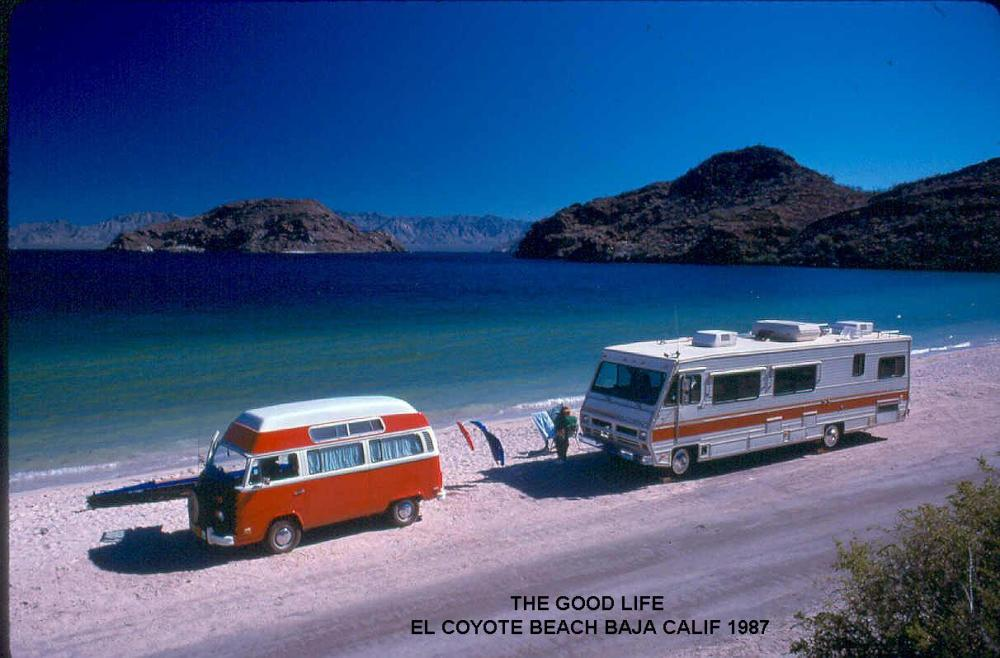 El Coyote Beach Camping in Baja 1987