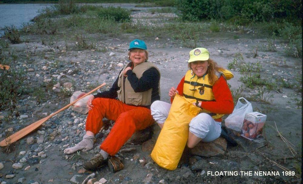 Canoeing Trip Near Denali Park 1989