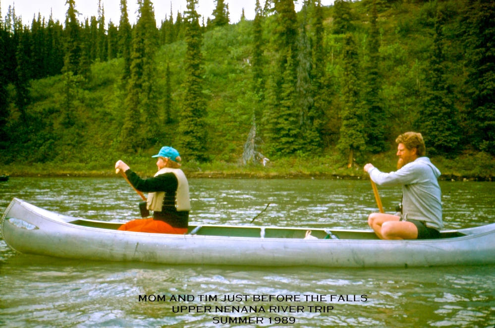 Paddling the Nenana River Near Denali Park Alaska 1989