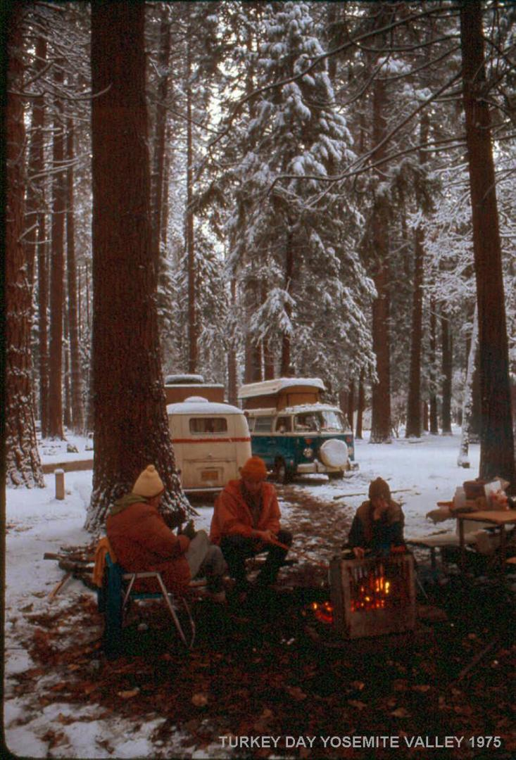 A Cold Snowy Thanksgiving in Yosemite Valley 1975