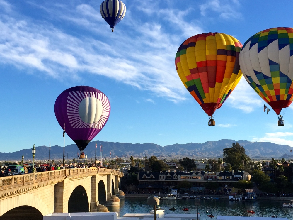 Balloon Festival at Buses At The Havasu Bridge
