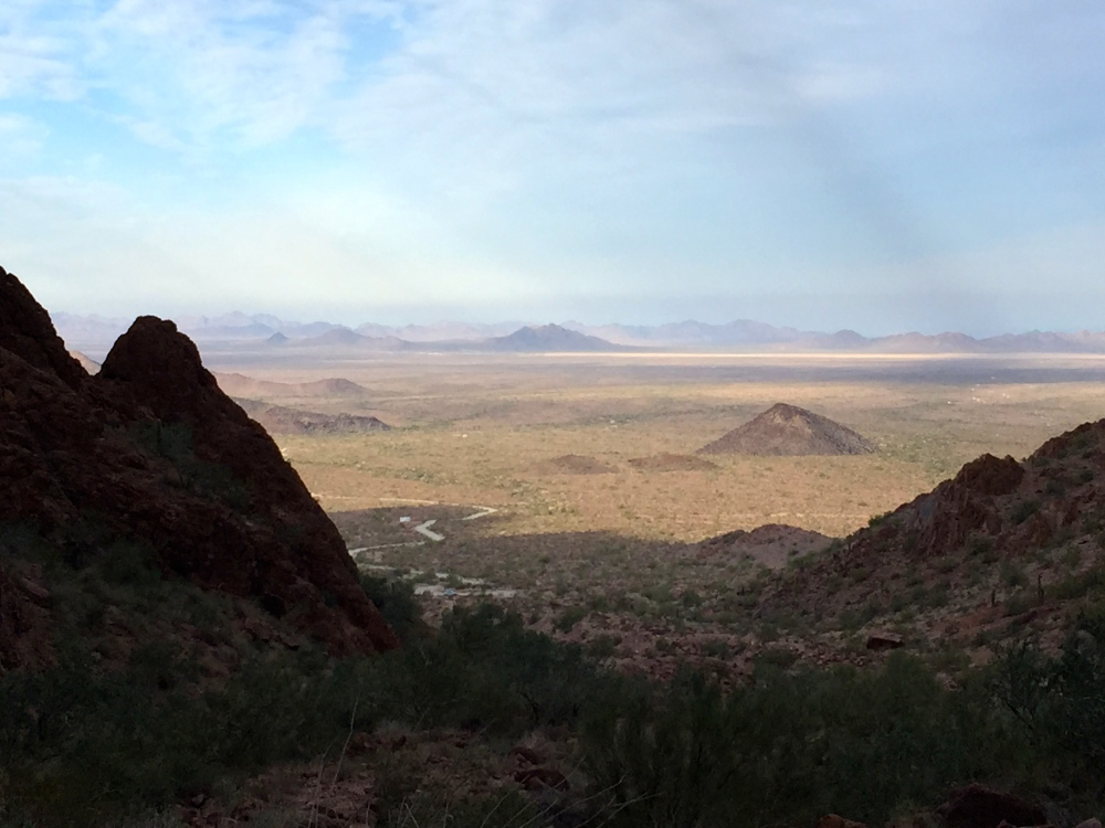 View From Palm Canyon in Kofa National Wildlife Refuge