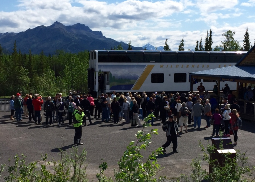 Visitors arriving At Denali National Park By Train
