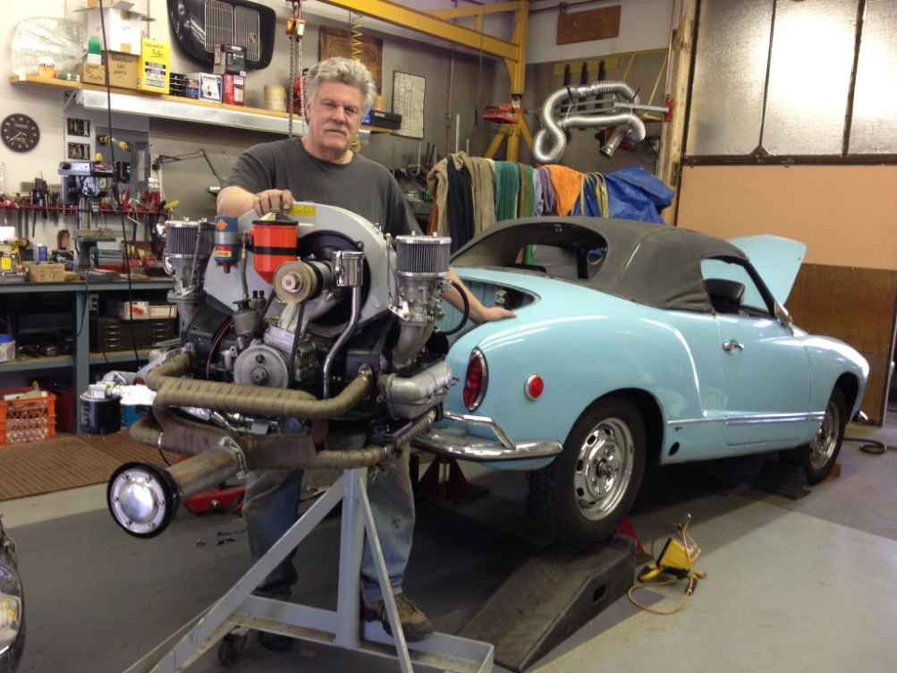 Restored 1969 VW Karmann Ghia with 1963 Porsche Engine