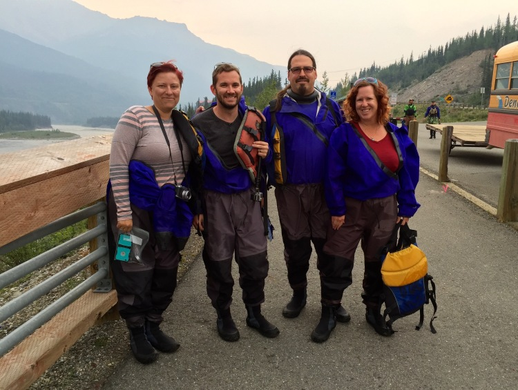 Chris, Cherie, Jason and Kristen Go River Rafting