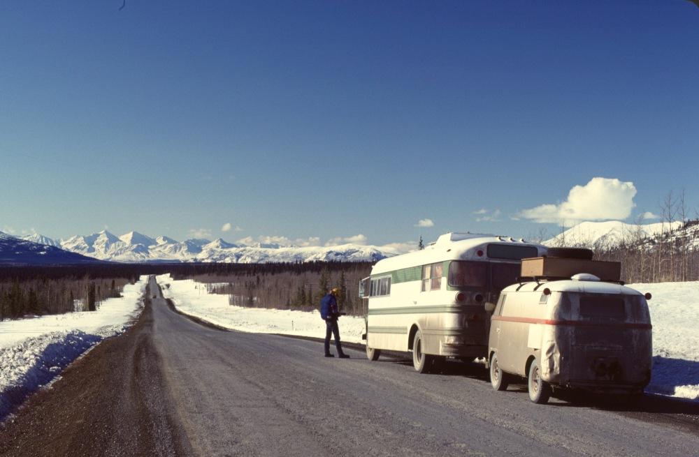 Our Motorhome/Bus On The Alcan 1975