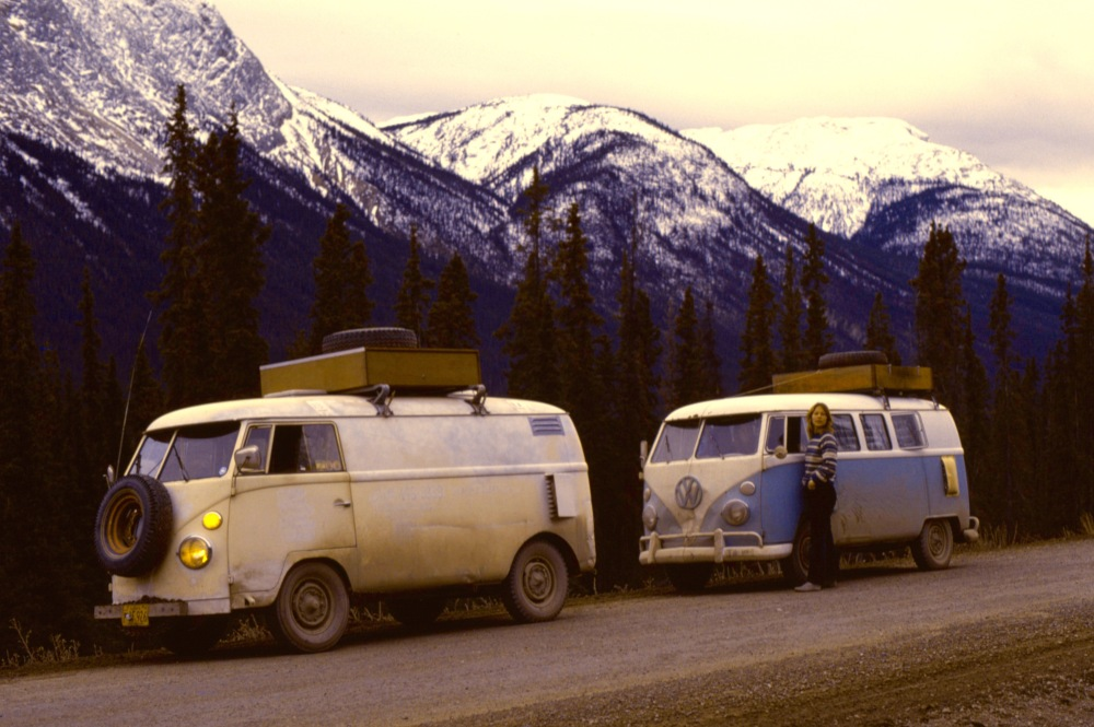 Our VW Buses Traveling The Alcan 1974