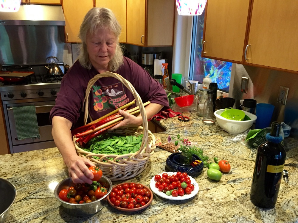 Denise Harvests The Final Crop