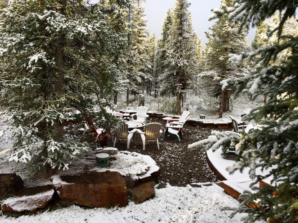 Fire Pit With First Snow