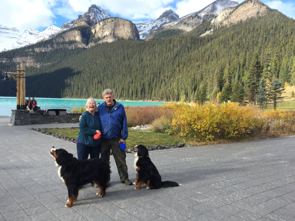 The Taylor Family At Lake Louise