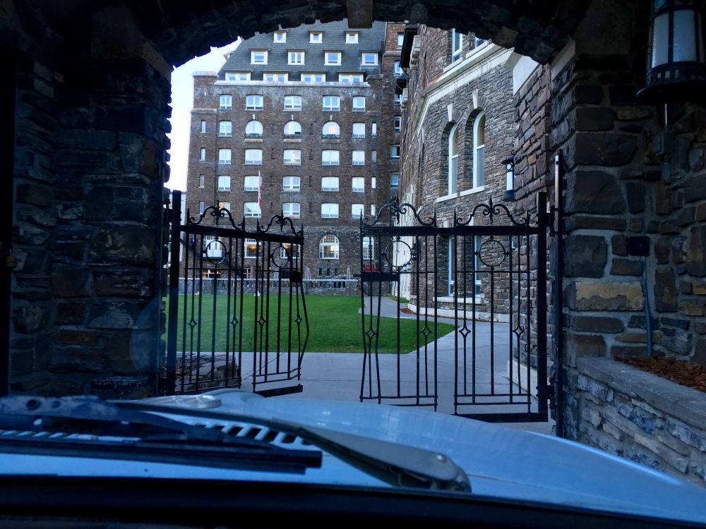 Back Door Of Historic Banff Springs Hotel