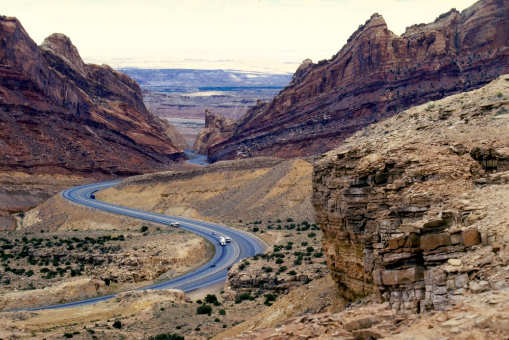 I70 Snakes Through The San Rafael Swell
