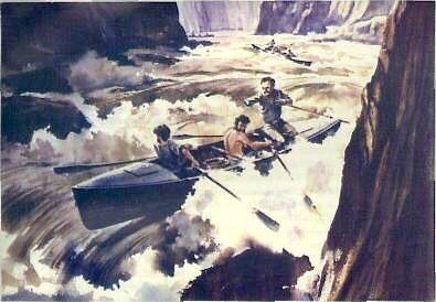 John Wesley Powell Desends The Colorado River