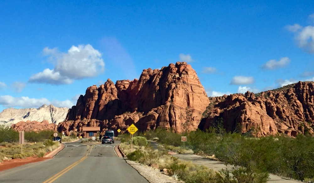 Entrance Station Snow Canyon