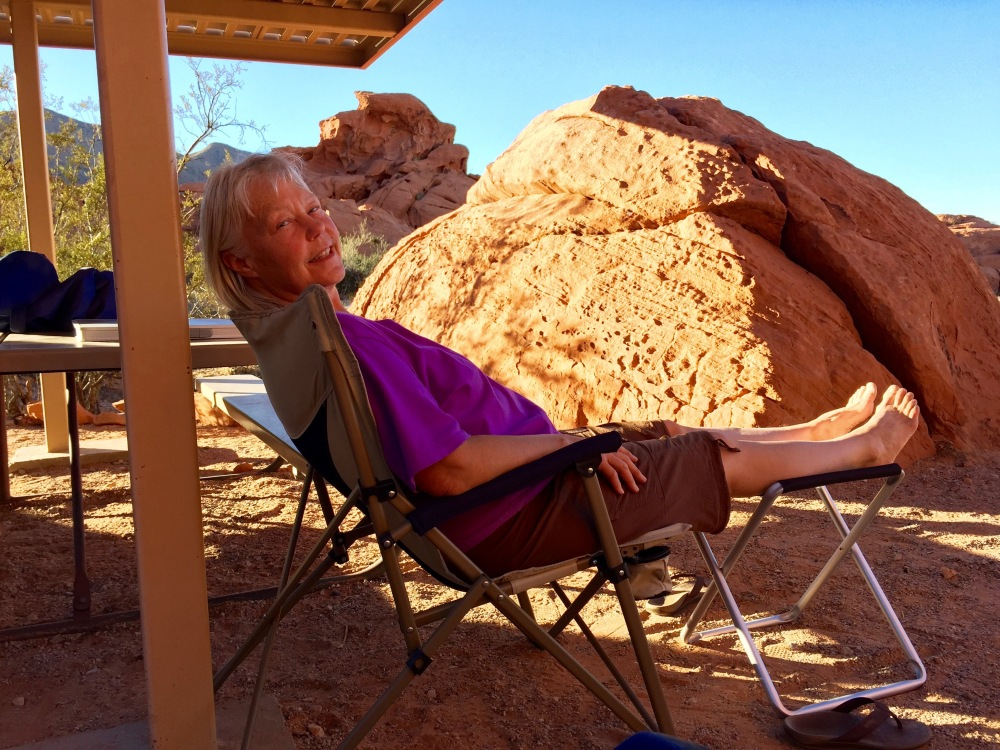 Denise Takes A Break In The Valley of Fire