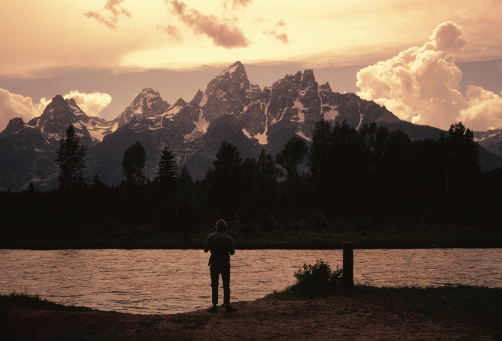 Tim Contemplates The Snake River Shortly Before Floating Across In An Old Inner Tube 1969