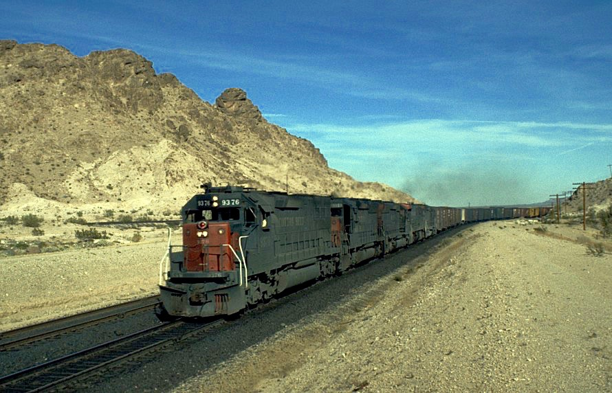 Northbound Freight Near Sidewinder Road