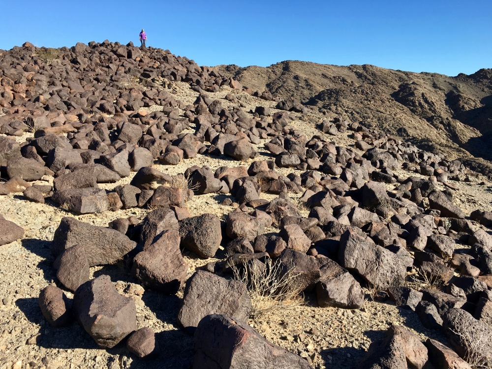 Hiking In The Volcanic Boulders