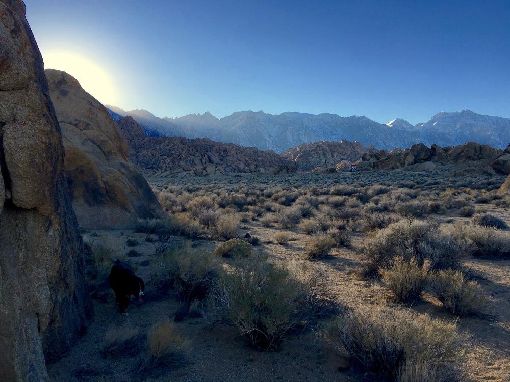 Sunset Behind Lone Pine Peak