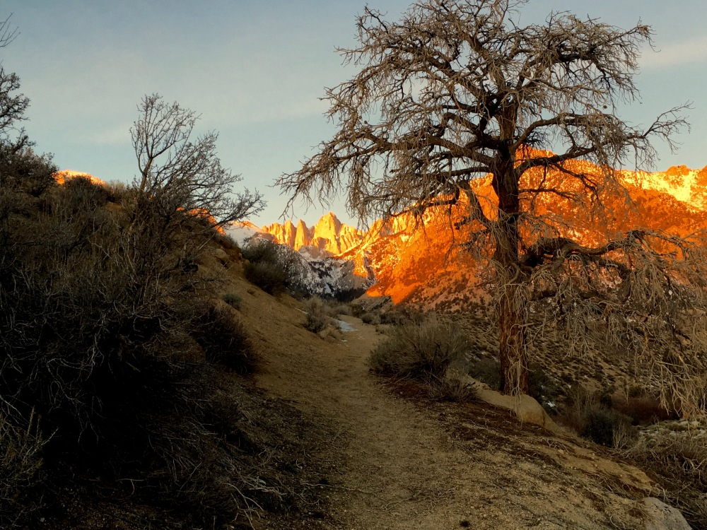 Sunrise Just Above Lone Pine Campground