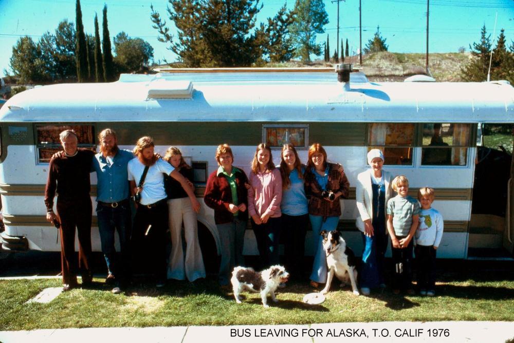 Departure To Alaska 1976 1958 Converted School Bus Towing 1958 VW Van