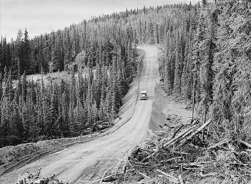 Early Alaskan Hwy 1940's