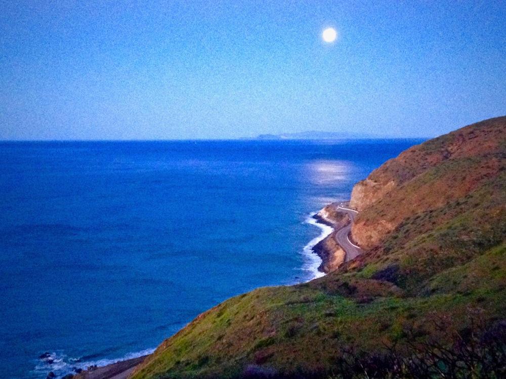 Moonlight Near Point Mugu