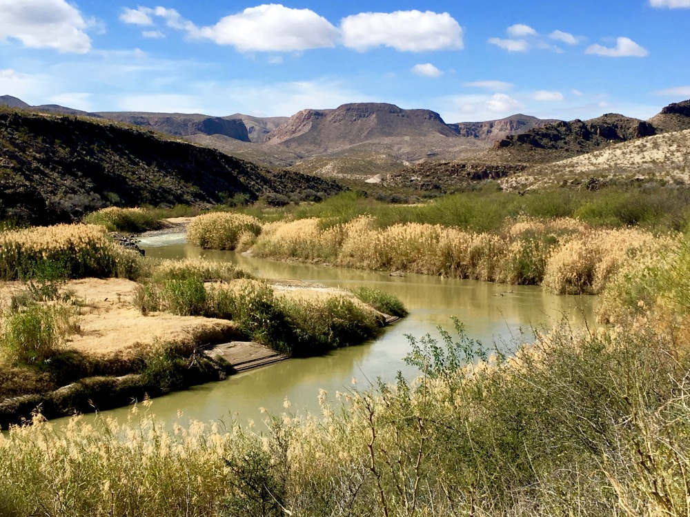The Rio Grande River As It Flows Through Big Bend Ranch State Park