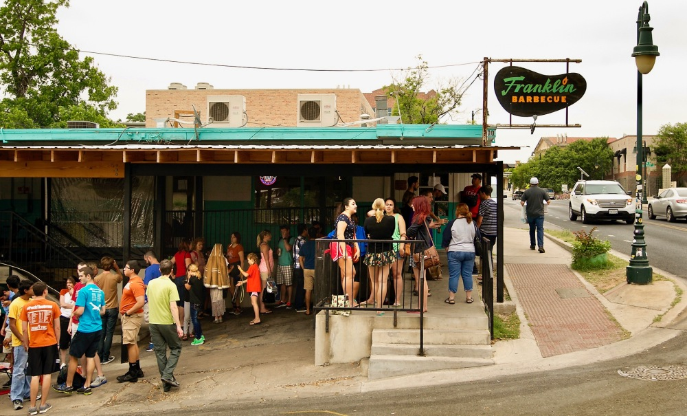 In Line At Franklins BBQ